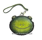Leather Frog Head Coin Purse