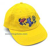 Dart Frogs Embroidered Yellow Cap