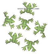 Brass Decorative Frogs Set/6