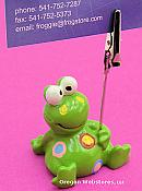 Polkadot Frog Note Holder