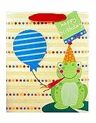 """Happy Birthday Celebrate"" Frog Gift Bag"