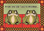 Old Toads Hoppy Birthday Card