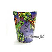 Jungle Frogs Inside & Out Shot Glass