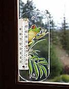 Treefrog Acrylic Thermometer