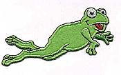 Iron-On Felt Frog Applique - JUMP