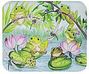 Frogs & Lilypads Mouse Pad