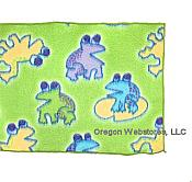 Playful Green Frog Fleece Scarf