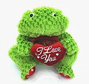 "Plush Frog with ""I Love You"" Heart"