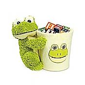 Plush Frog on Basket