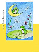 """You make my heart leap"" Frog Greeting Card"