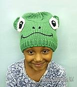 Smiling Frog Head Knit Hat