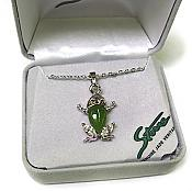 Jade & Crystal Frog Necklace
