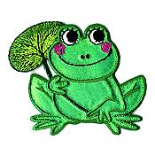 Frog with Lily Pad Iron-On