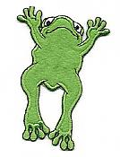 Iron-on Felt Frog Applique - SKIP