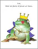 """Plenty of Princes"" Frog Card"