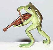 Porcelain Miniature: Fiddle Frog