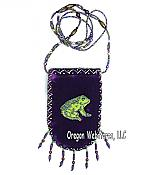 Beaded Purple Velvet Frog iphone/ipod Case
