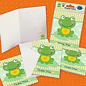 Froggy Frog Thank-You Notes, pk/8