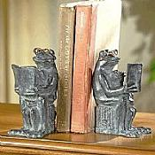 Metal Reading Frog Bookends