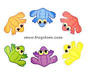 Colorful Mini Frogs Accents (36)