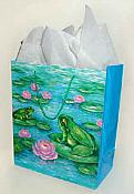 Large Frog Gift Bag