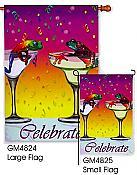 Celebrate! Festive Frog Flag