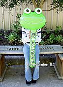 Inflatable Frog Head Wand 36""