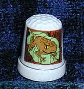 Porcelain Frog Thimble