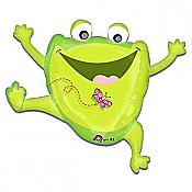 Leaping Frog with Butterfly Balloon