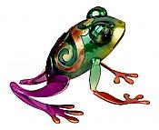 Sitting Green Rainbow Frog