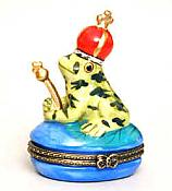Spotted Frog Prince Porcelain Box