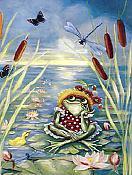 Pondering Frog Card