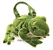 Plush Rattling Frog Kids Purse