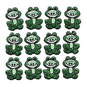 Whimsical Frog Iron-Ons (12 lime)