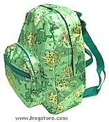 Sateen Frogs Small Backpack