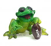 Football Sports Frog Figurine