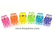 Assorted Tiny Frog Hairclips Set/6