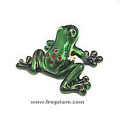 Mini Green Tree Frog Jewel Box