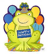 Happy Birthday Shaped Frog Gift Bag