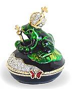 Praying Frog Prince Jewel Box