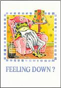 Feelin' Down Frog Get Well Card