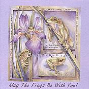 Bergsma:Lavender Ladies Frog Tee- Small