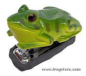 Mini Green Frog Stapler