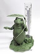 Frog with Leaf Rain Gauge