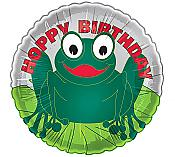 Hoppy Birthday Frog Mylar Balloon