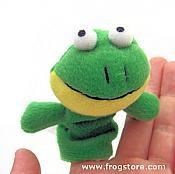 """""""J. Fred Frog"""" Finger Puppet"""