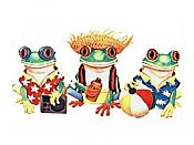Beach Frogs T-Shirts, adult