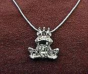 Jewel-Belly Frog Prince Necklace