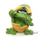 Russ Teenie Countrykin Frog Figurine: Buster