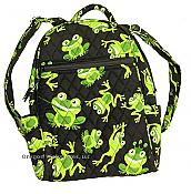 Quilted Frog Small Backpack